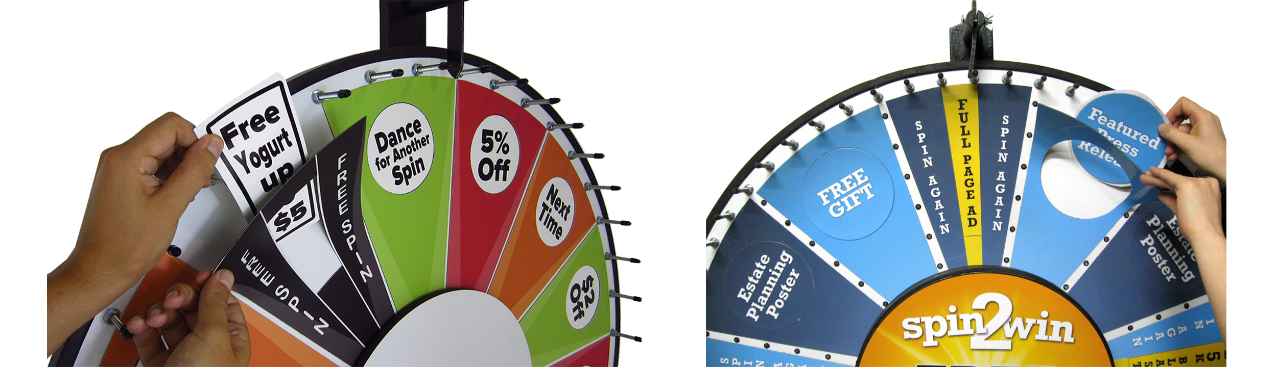 Custom Prize Wheels - Insert Your Own Graphics Prize Wheels